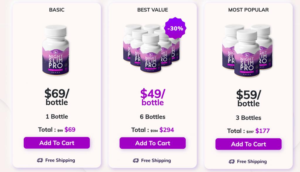 night slim pro pricing