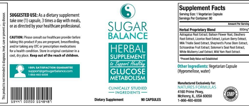 sugar balance ingredients