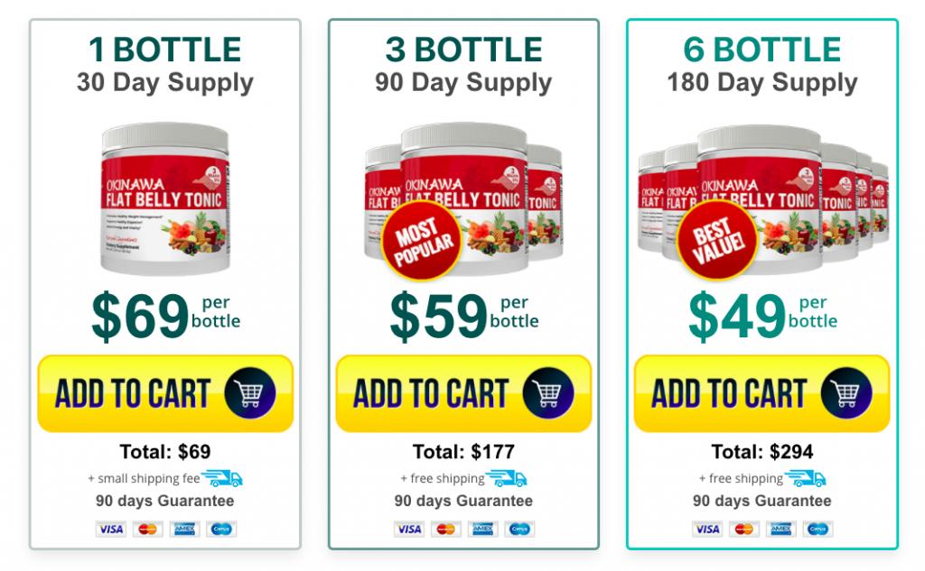 okinawa flat belly tonic pricing