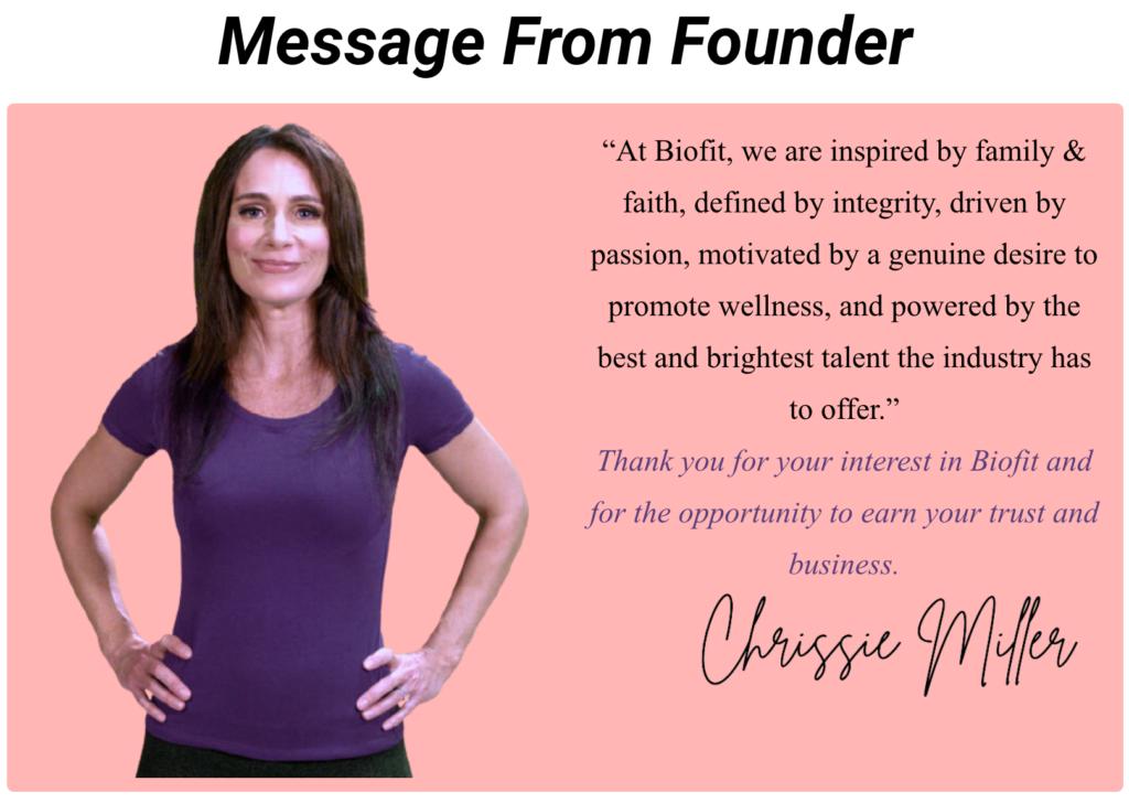 biofit founder message